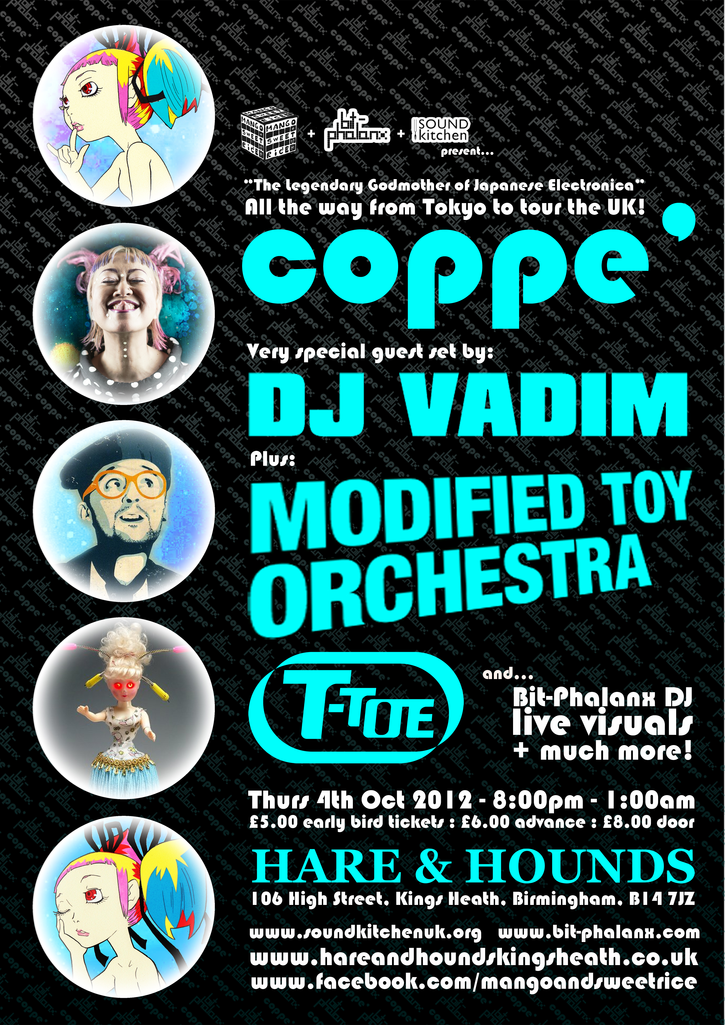 vadim / modified toy orchestra + coppé live at hare + hounds !!!