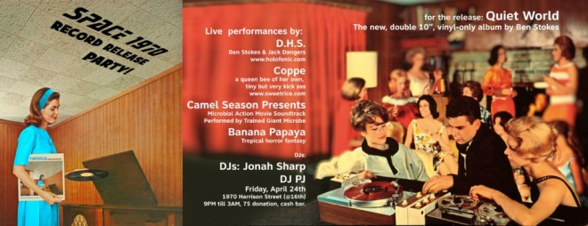 coppé live w/ dftram at ben stokes studio 1970 on 4/24/fri.2015