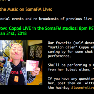 coppé live on soma fm !